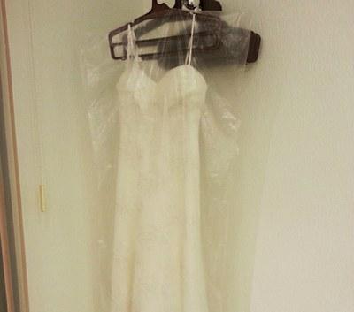 Пакет-чехол для переноски свадебного платья – белый 75 мкм